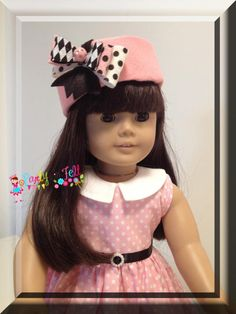 Vintage Style Felt Hat for the American Girl Doll or 18 inch Doll. $16.00, via Etsy.