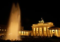 Fotopraxis am Brandenburger Tor Berlin bei Nacht