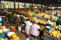 You can buy anything from fresh produce, fish and seafood and even at hair accessories at Maputo central market: http://eagerjourneys.com/48-hours-in-maputo/
