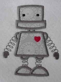 Applikation Roboter von Lieblingsstücke-webshop auf DaWanda.com