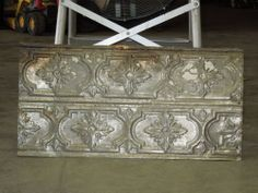 Old Antique ( Metal ) Tin ceiling tile /  24X12 1880  back splash  Prison tin #ArtNouveau