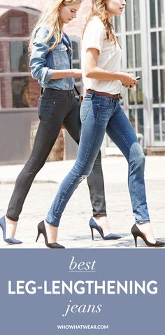 The best slimming, leg-lengthening jeans to shop now. // #Tips #Shopping
