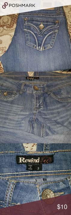 Light denim Rewind jeans Nice jeans.  29 in. Inseam. Great condition. Bundle and save. Rewind  Jeans Boot Cut