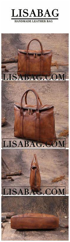 Leather Briefcase Men's Business Bag Handbag Men Fashion Laptop Bag in Gray Black 9069