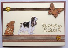Easter Card with English Cocker Spaniel