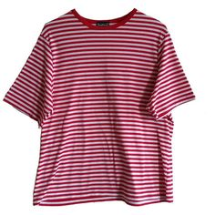 80s 90s Bright Colorful Striped Shirt Size XL Red White Stripe 90s Tee... (340 ARS) ❤ liked on Polyvore featuring tops, t-shirts, shirts, clothing - ss tops, vintage 80s t shirts, white cotton shirt, striped t shirt, stripe t shirt and white striped shirt