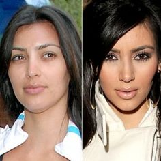 celebs without makeup before and after | ... celebrities with and without makeup as they demonstrate that makeup