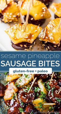 SAVE FOR LATER! These super delicious Pineapple Sausage Bites are an easy to mak. SAVE FOR LATER! These super delicious Pineapple Sausage Bites are an easy to make appetizer perfect Dairy Free Appetizers, Easy To Make Appetizers, Appetizers For A Crowd, Healthy Appetizers, Appetizer Recipes, Appetizer Skewers, Toothpick Appetizers, Gluten Free Party Food, Vol Au Vent