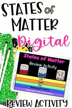 Are you looking for states of matter review activities for upper elementary science? This print or digital states of matter flip book is the perfect way for students to review solids, liquids, and gasses, and how how matter changes . Your 4th, 5th, and 6th grade science students will love representing what they've learned about states of matter in a visual way!