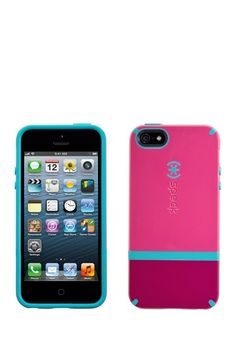 Speck CandyShell Flip for iPhone 5 - Raspberry Pink/Dark Raspberry Pink-Peacock Blue by Speck on @HauteLook