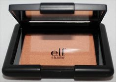 e.l.f. Studio Blush Giddy Gold Swatch, --for when you want to sparkle a bit