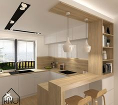 Kitchen Diner Designs, Kitchen Bar Design, Home Decor Kitchen, Interior Design Kitchen, Kitchen Taps, Small Modern Kitchens, Kitchen Contemporary, Contemporary Decor, Cuisines Design