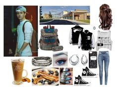 """""""Going to School With Bae (Niall Horan) ;)"""" by marinesister-181 ❤ liked on Polyvore featuring Disney, H&M, Converse, Accessory Collective, Bling Jewelry, Sakroots and Armenta"""