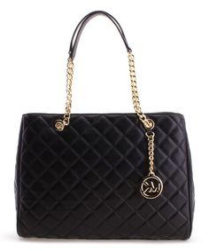 6c89207c8d54c Look what I found on #zulily! Black Susannah Large Quilted Leather Tote  #zulilyfinds