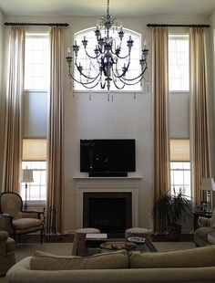 Image result for window treatments for vaulted ceilings