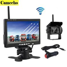 2017 New Wireless 7 Inch HD TFT LCD Vehicle Rear View Monitor Backup Camera Parking System With Car Charger For Truck RV Trailer