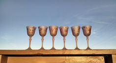 Best QualityStemware On Sale, MysticLand Frosted Crystal Stemware, Love Fever, Set of 6 French Crystals, 6 oz , Romantic Stemware, Bridesmaid Wedding Glass, Wedding Gifts by MysticLandPainted on Etsy