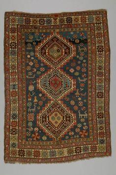 rug Shirvan district  DATE:1910 - 1920 DIMENSIONS:L 155 cm x W 112 cm