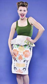 Peplum Skirt, (AngelaJohnsonDesigns.com, $165)