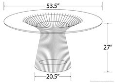 Steel Mesh Dining Table