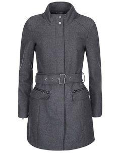 ONLY - Tmavě šedý kabát s páskem  Alanis - 1