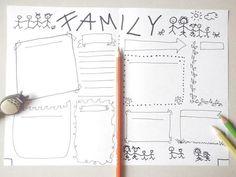 family bullet journal printable bujo planner agenda home