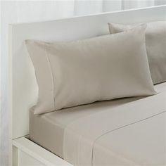 Standard Pillowcase Set - 180TC, Doeskin | Kmart