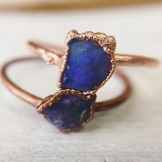 24 Raw Stone Engagement Rings for Non-Traditional Brides |  | This is one of the most beautiful raw stone engagement rings I have ever seen. | Spotted via http://emmalinebride.com/planning/raw-stone-engagement-rings/