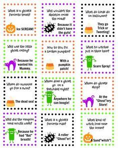 printable halloween jokes - Kids Jokes Halloween