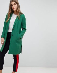 Buy Esprit Clean Smart Blazer Jacket at ASOS. With free delivery and return options (Ts&Cs apply), online shopping has never been so easy. Get the latest trends with ASOS now. Coats For Women, Jackets For Women, Blazers, Leather Blazer, Mode Online, Green Jacket, Long A Line, Jacket Style, Elegant