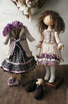 Купить Куклы. Текстильная кукла Софи. Бохо стиль. - кукла, кукла ручной работы