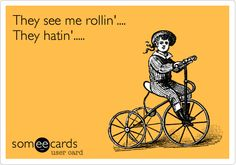 Free and Funny Cry For Help Ecard: He always takes the low road on a high horse. Create and send your own custom Cry For Help ecard. Bicycle Quotes, High Horse, They See Me Rollin, Divorce Party, Funny Confessions, Music Humor, Funny Music, I Care, Sports Humor