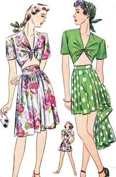 Vintage Sewing Pattern 1940s Simplicity 1020 by paneenjerez, $18.00