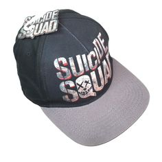 4491a76e4de Suicide Squad Baseball Cap Black Gray In Squad We Trust One Size Snap Back  Hat
