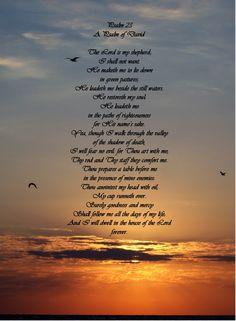 23rd Psalm Sunset