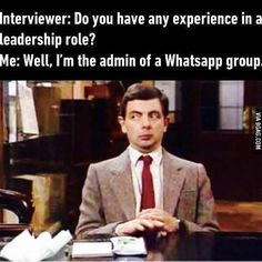 It's a very fast-paced, diverse group. I've learn a lot. @9gagmobile #9gag #leadership #mrbean #F4F #followback #lol