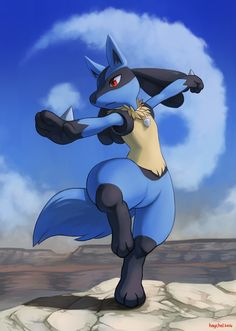 Nice colors  The background is nice and blends with Lucario