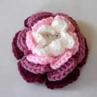 This crochet flower pattern is for the Big Crochet Rose with 2 to 4 layers - your choice.