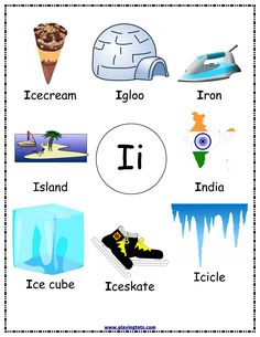 Free printable (English/Tamil) flash cards/charts/worksheets/(file folder/busy bag/quiet time activities) for kids(toddlers/preschoolers) to play and learn at home and classroom. Letter I Words, Alphabet Words, Alphabet Phonics, Teaching The Alphabet, Alphabet For Kids, Alphabet Pictures, Printable Preschool Worksheets, Alphabet Worksheets, Free Printable