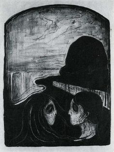 Edvard Munch Lithograph - Attraction (1896)
