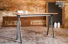 Console Jetson - meuble industriel - Un meuble industriel alliant métal et bois massif