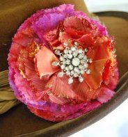 Grandma's Jewels Corsage (would be lovely in a frame or shadow box!) fabric: gauze-silky-batik
