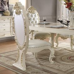 Elegant Dining Room, Luxury Dining Room, Side Chairs, Dining Chairs, Victorian Dressers, Armchair, Rectangle Dining Table, Luxury Home Furniture, Chair Price
