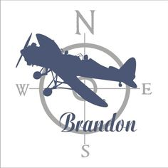 AIRPLANE WITH NAME decal plane decal vinyl aviation by loladecor Baby Boy Nursery Themes, Baby Boy Rooms, Baby Boy Nurseries, Baby Shower Themes, Baby Boy Shower, Aviation Nursery, Aviation Theme, Airplane Nursery, Baby Couch