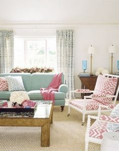 Pink living room by annabelle