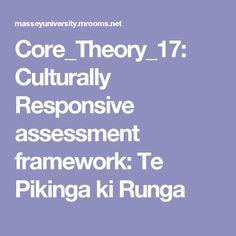 Culturally Responsive assessment framework: Te Pikinga ki Runga This is to help me with my work in Māori immersion kura. It is a Māori kaupapa framework