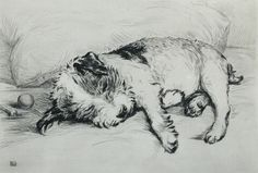 """Played Out"" ~ Drypoint Etching by British Artist  Lucy Dawson (1874-1954) ...."