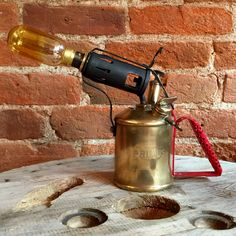Upcycled 1930's Primus 632 Blow Torch Lamp  http://www.upcycledcreative.co.uk/buysomething/upcycled-1930s-primus-632-blow-torch-lamp