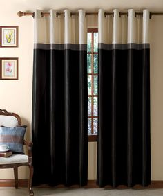 Take a look at this Black & Taupe Westin Curtain Panel by Victoria Classics on #zulily today!