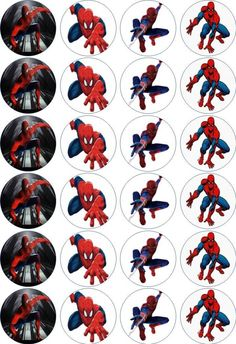 24 x 4.5cm SPIDERMAN EDIBLE RICE/WAFER PAPER CUPCAKE TOPPERS | eBay
